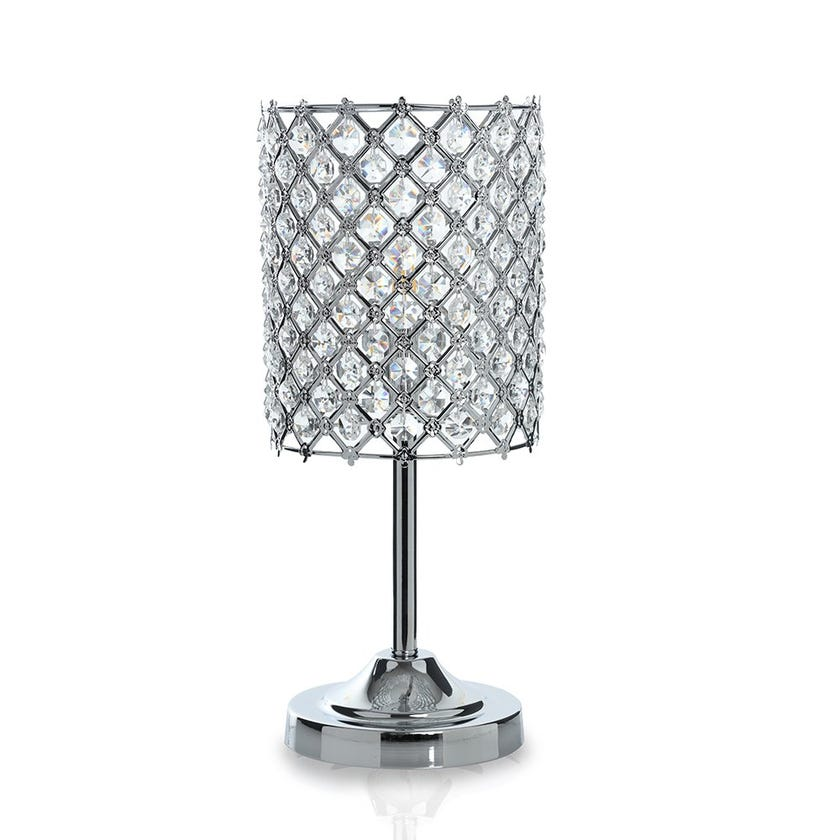 Abaca Table Lamp, Chrome – 18x40 cms