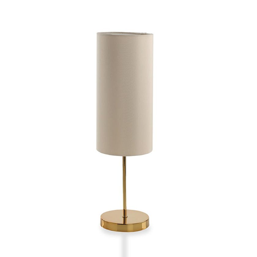 Gold Finish Metal Table Lamp, Champagne - 48 cms