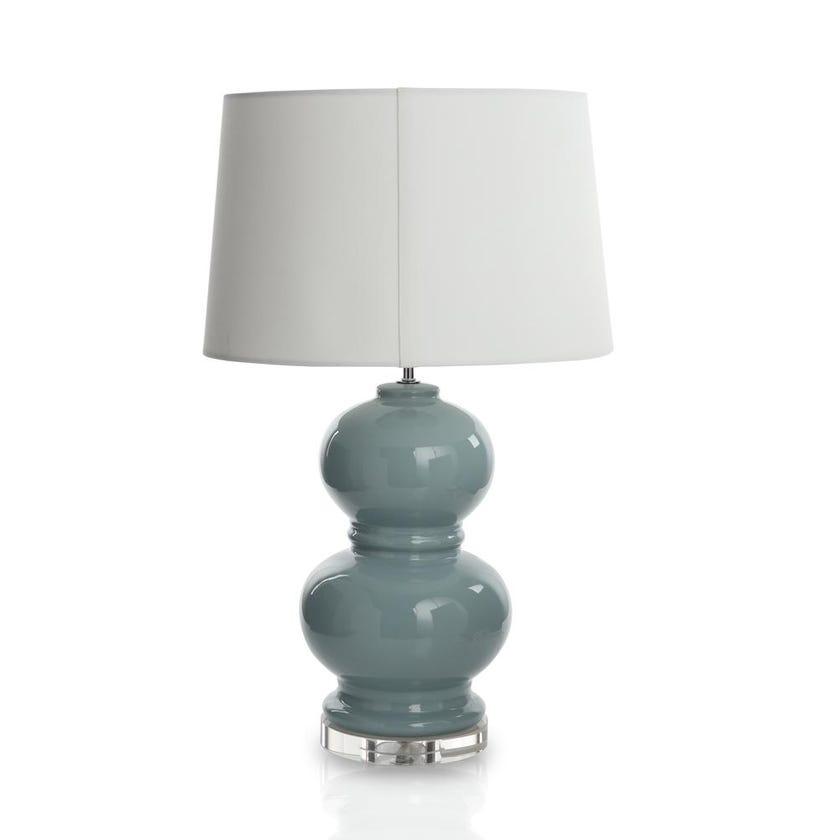 Ceramic Table Lamp, Blue - 24.75 cms
