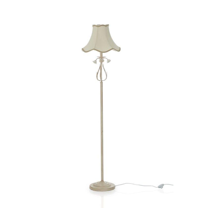Rose Floor Lamp, White & Gold – 38x165 cms