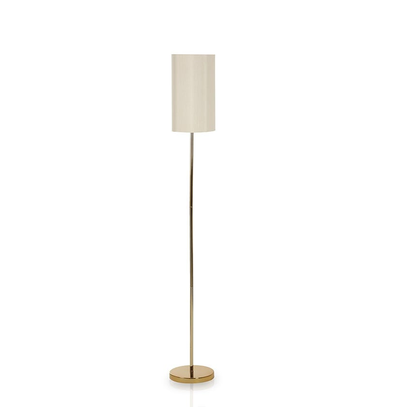 Gold Finish Metal Floor Lamp, Champagne - 155 cms