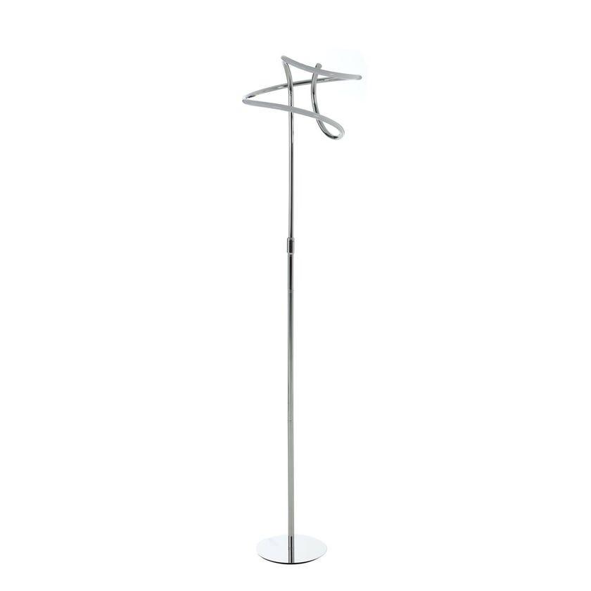 Ribbon Floor Lamp, Chrome – 33x162 cms