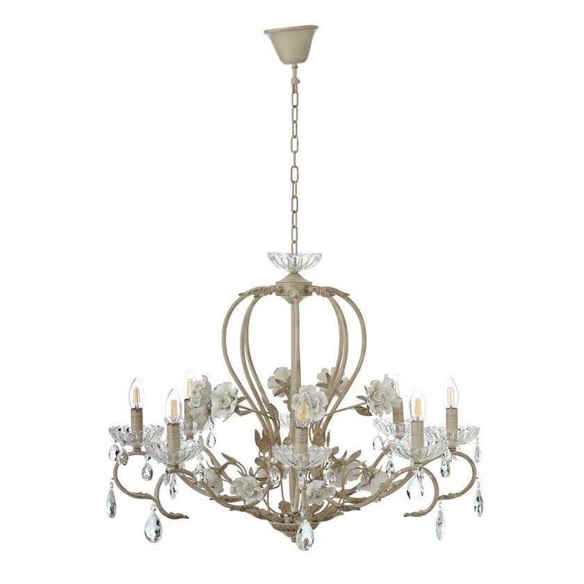 Pendant Lamp, White & Gold – 80x64 cms