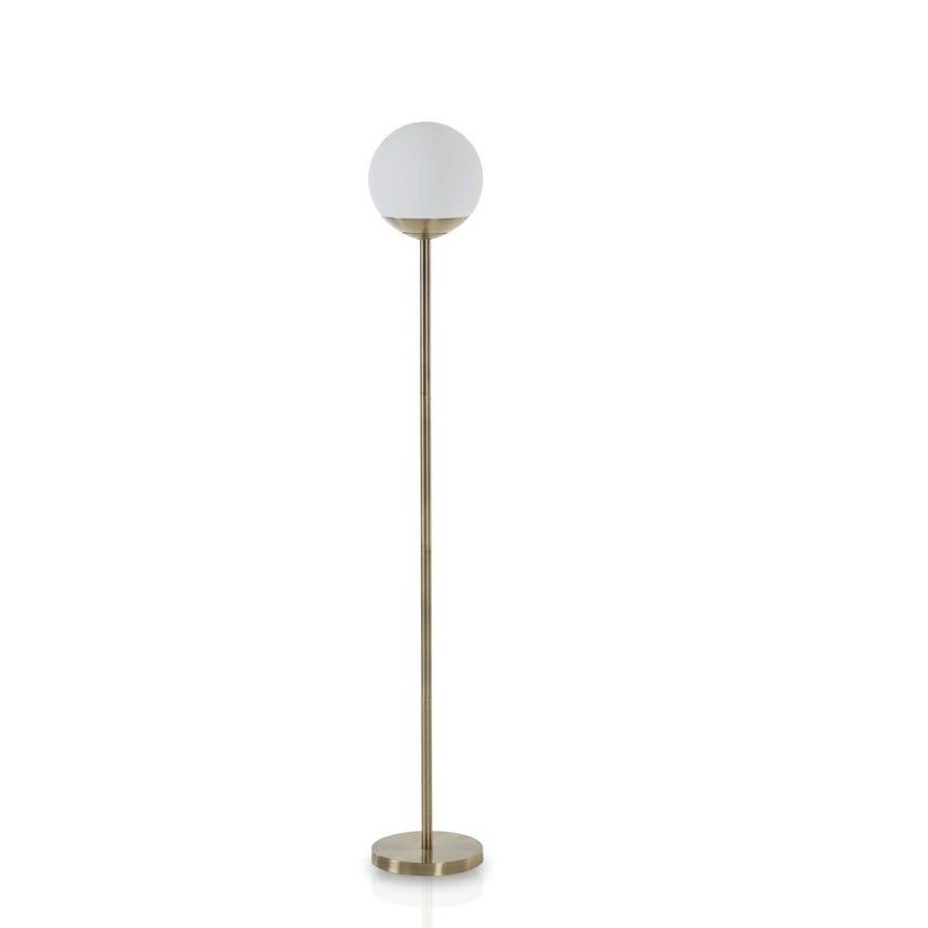 Globe Head Floor Lamp, Gold - 168 cms