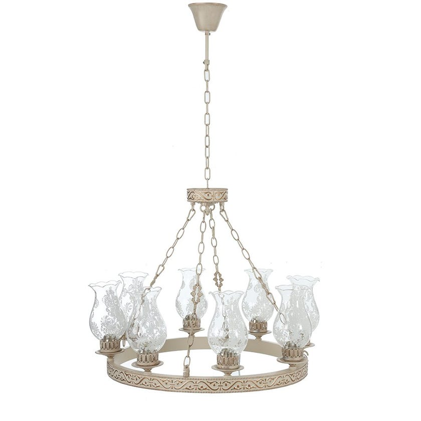 Charles Glass Ceiling Lamp - 70 x 50 cms