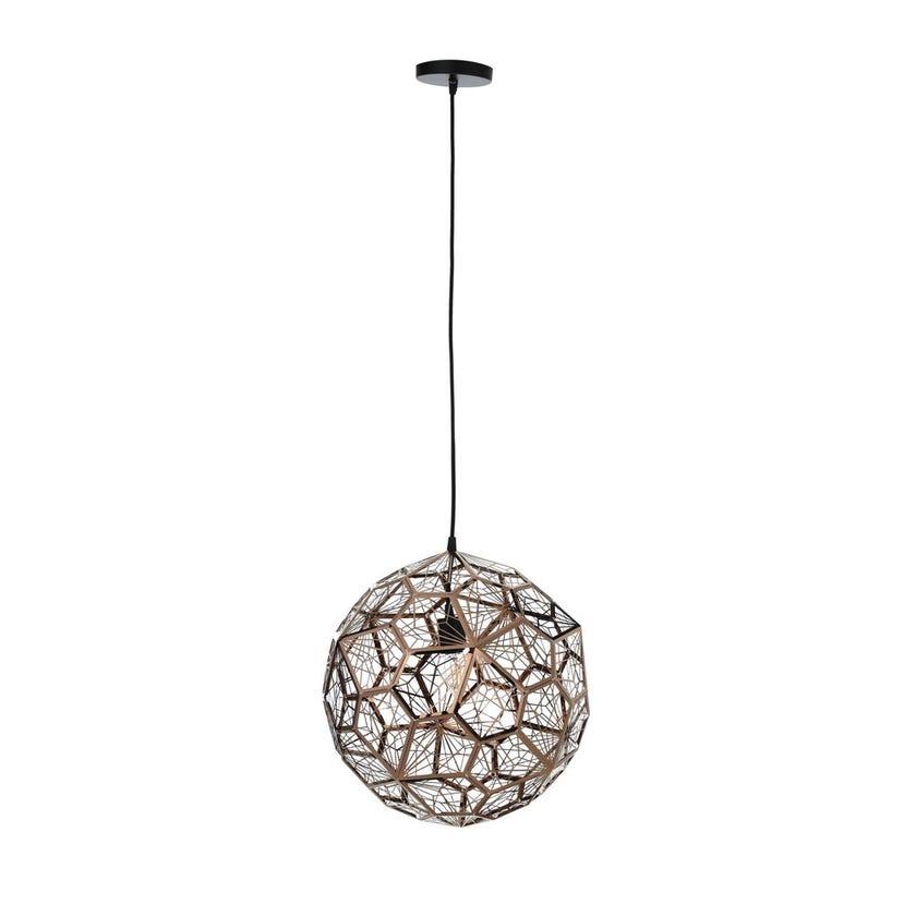 Spear Pendant Lamp, Rose Gold – 40x42 cms