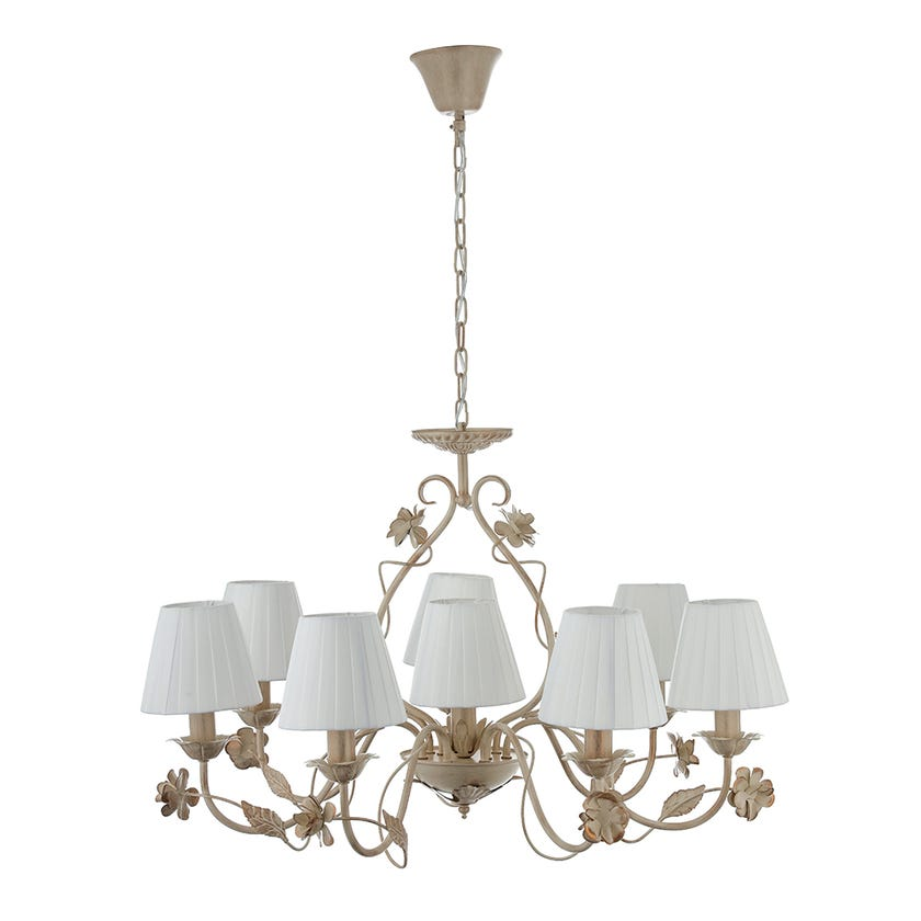 Metal 8-Light Pendant Lamp - 80 x 53 cms