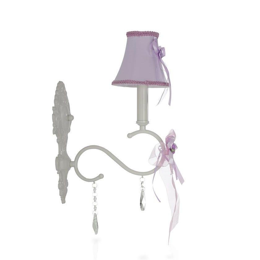 Lavina Kids Wall Lamp, Purple & White – 13x45 cms