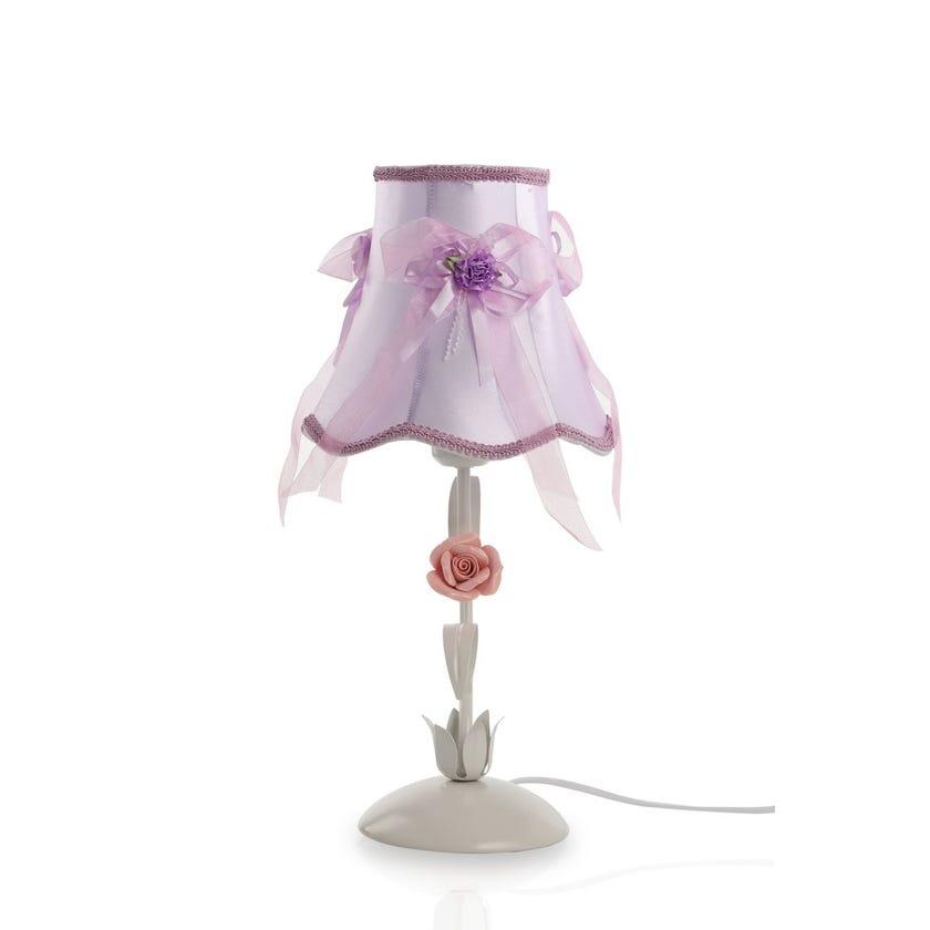 Lavina Kids Table Lamp, Purple & White – 22x47 cms