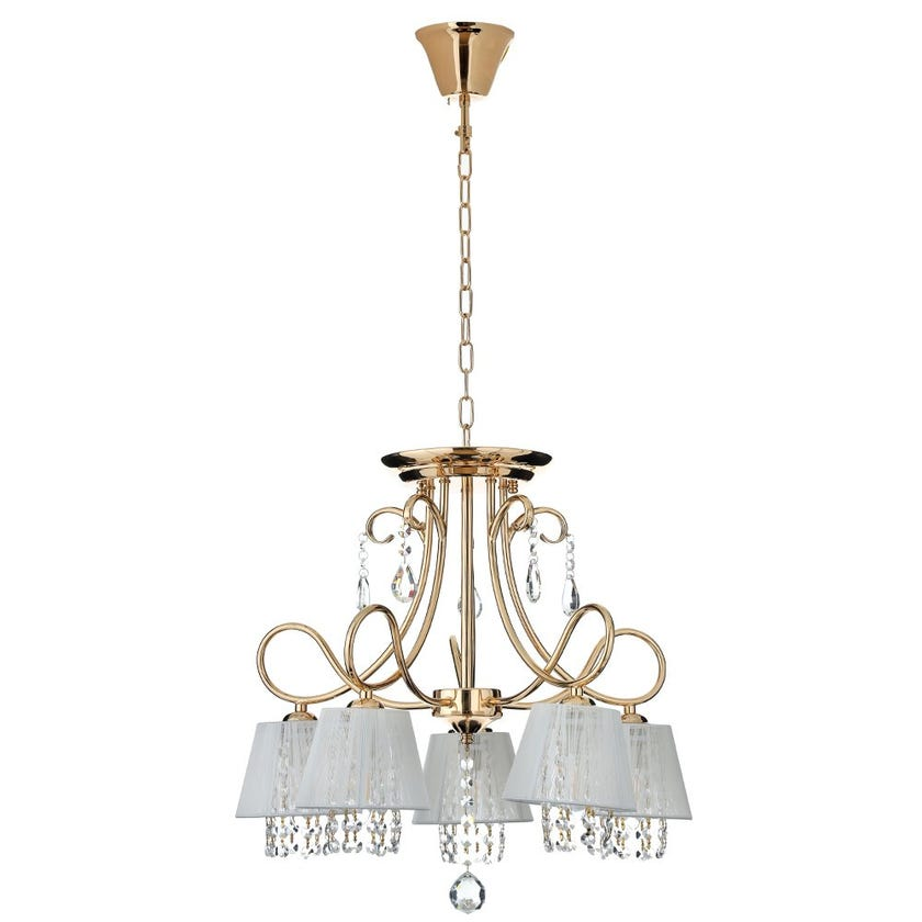Kami Chandelier, French Gold & Clear – 58x120 cms