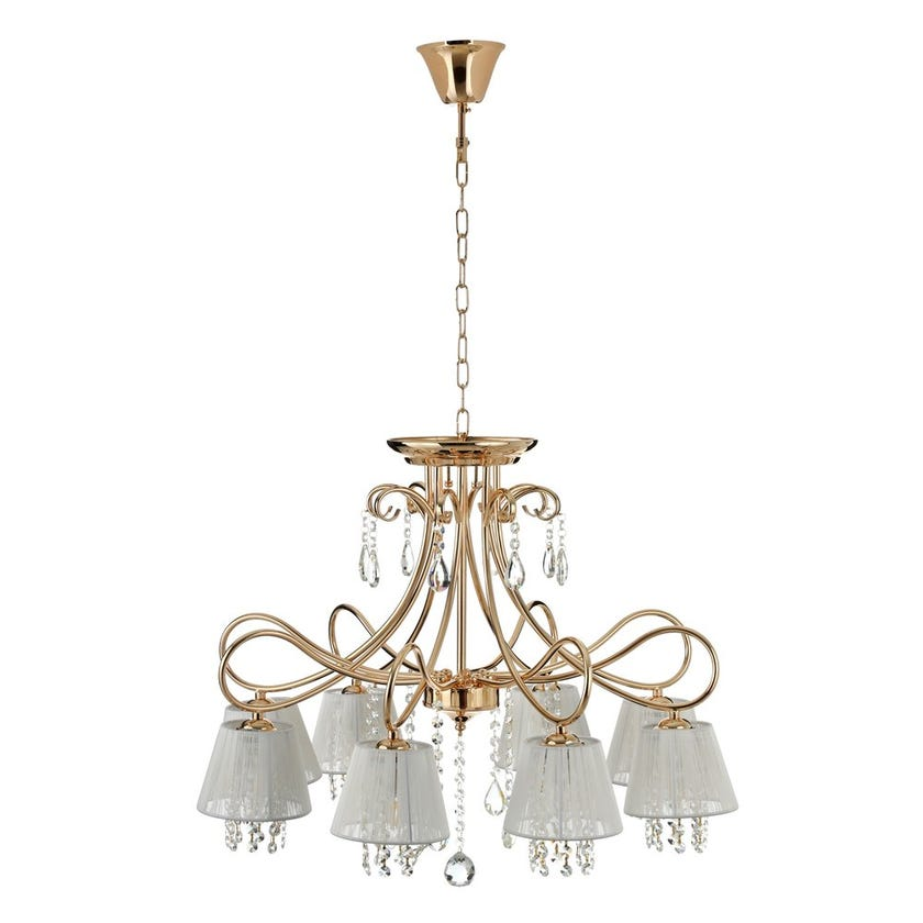 Kami Chandelier, French Gold & Clear – 73x52 cms