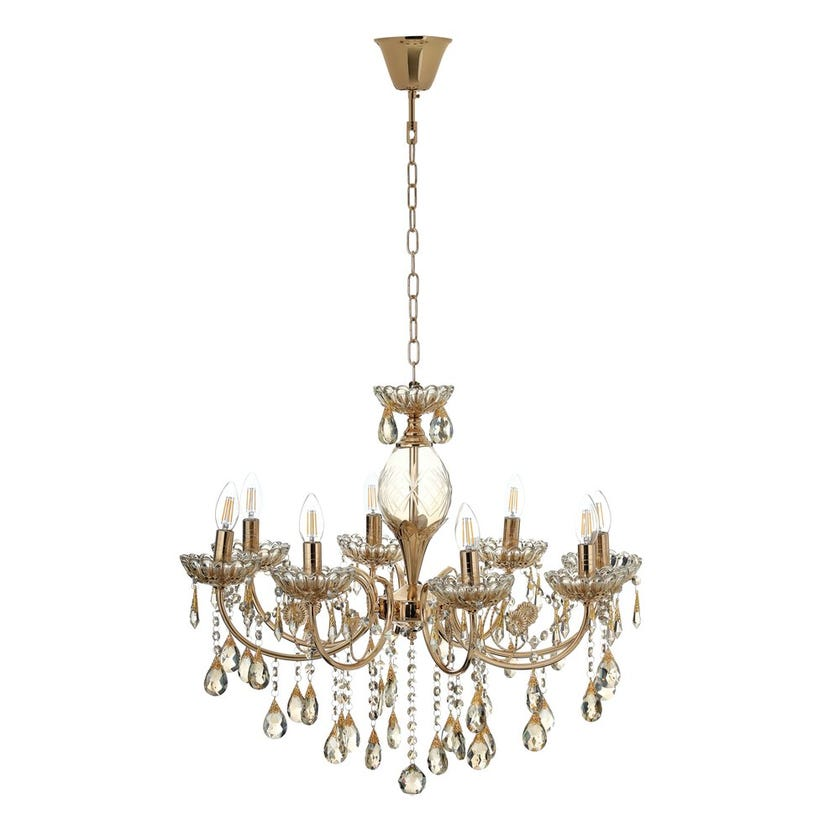 Pendant Lamp, French Gold – 70x59 cms