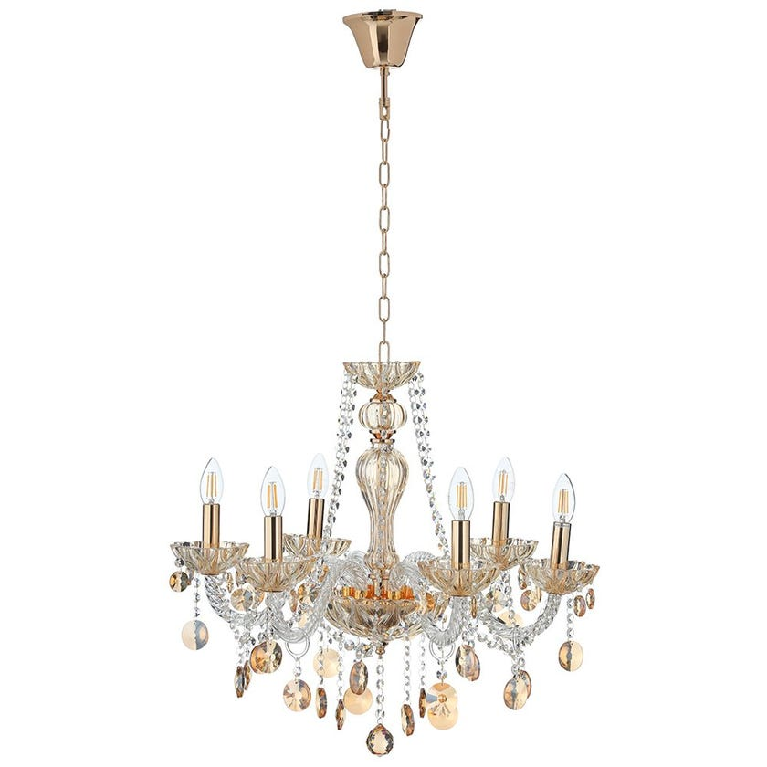 Champ Metal Pendant Lamp, French Gold & Champagne - 62x48 cms