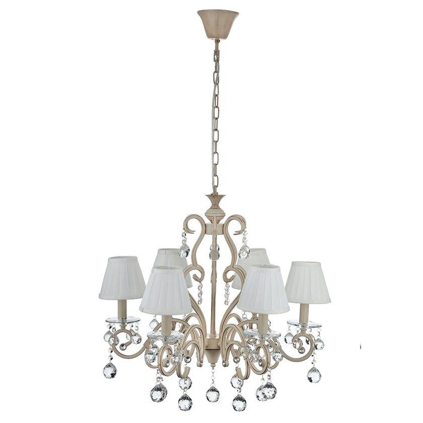 Aspen 6-Light Crystal Chandelier - 65 x 60 cms