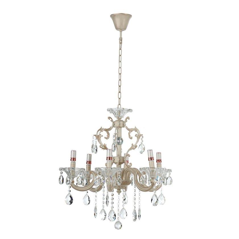 Silvia Glass Crystal Chandelier - 63 x 65 cms