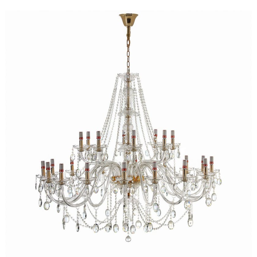 Crystal Pendant Lamp - 136 x 200 cms (French Gold)