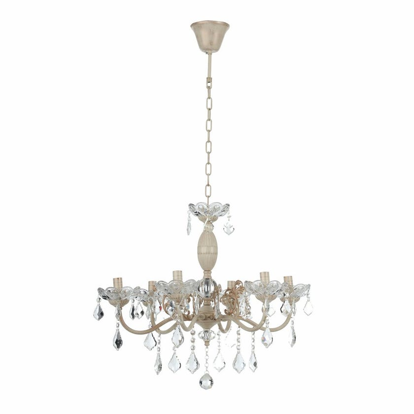 Crystal Glass Pendant Lamp - 63 x 50 cms