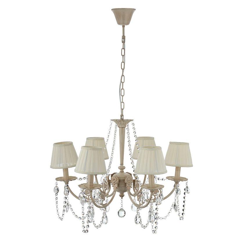 Metal 6-Light Pendant Lamp - 68 x 51 cms