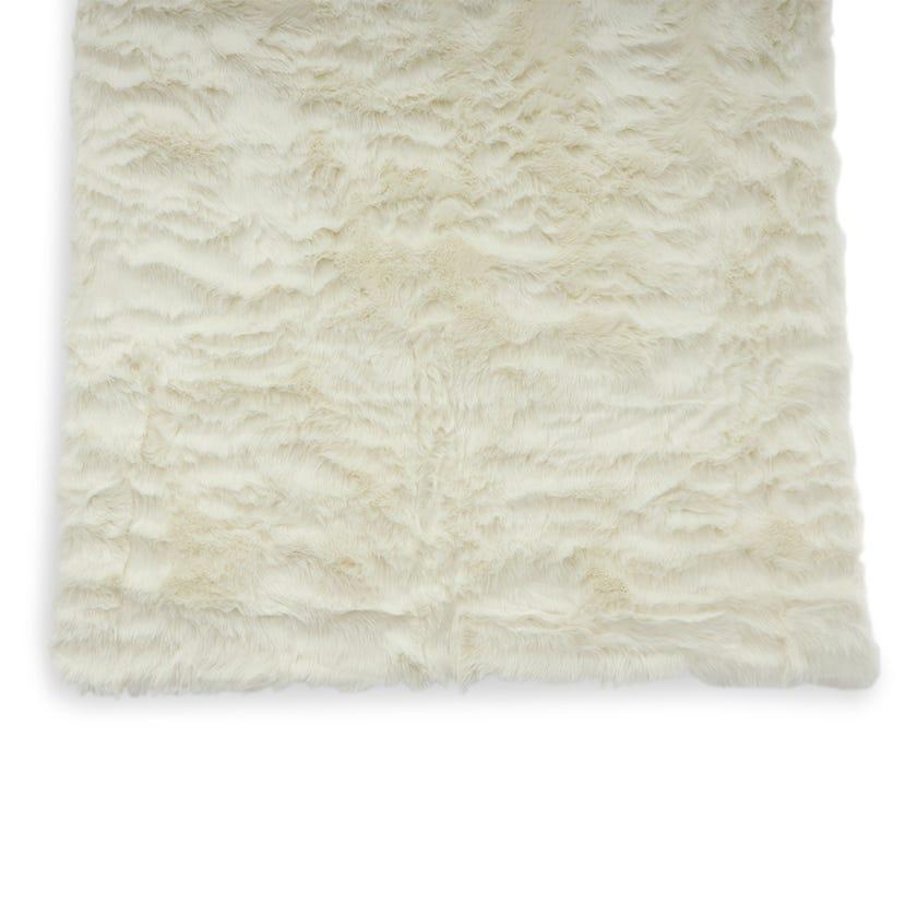 Sheepskin Woven Carpet (White, Polyacrylic, 160 X 230 cms)