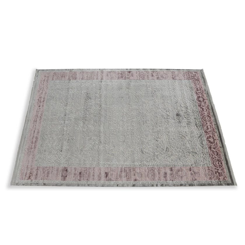 Taboo Rectangular Carpet, Grey & Lilac – 200x290 cms