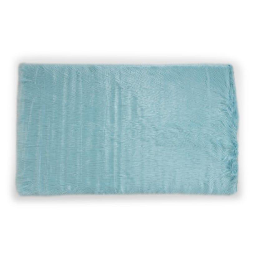 Kids Rug (Blue, Acrylic, 120 x 70 cms)