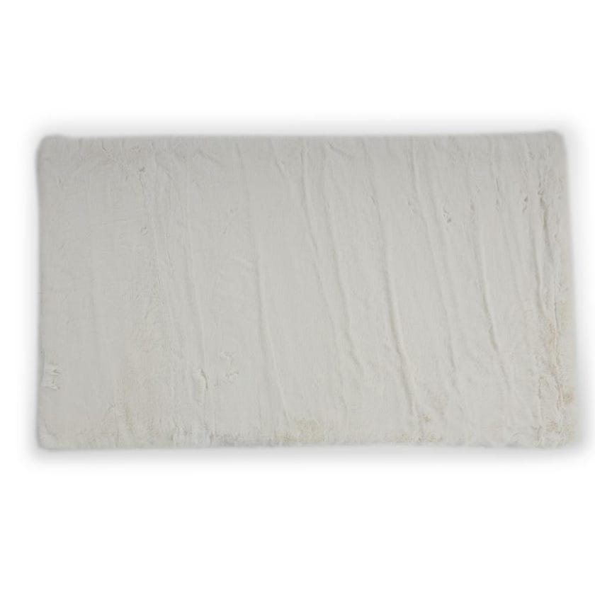 Rabbitfur Rug (Ivory, Polyester, 120 x 70 cms)