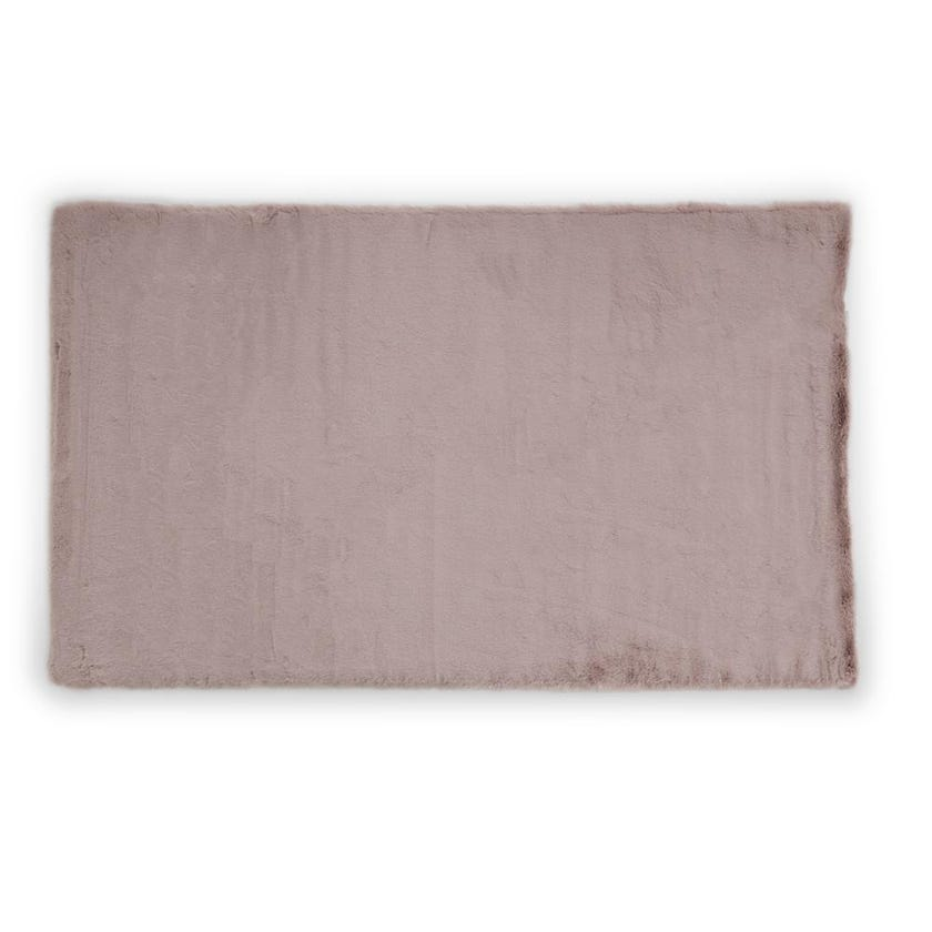 Faux Rabbit Fur Rug - Pink, 120 x 70 cms