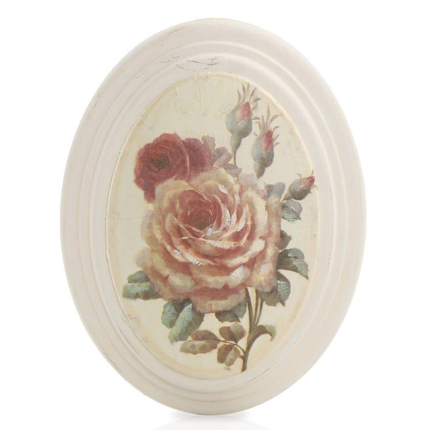 Rose Stem Framed Art, Cream – 17x22 cms
