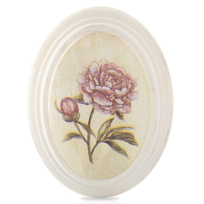 Vintage Rose Framed Art, Cream – 17x22 cms