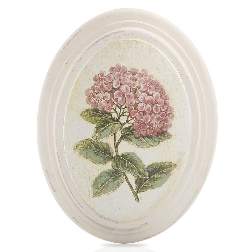 Floral Spray Framed Art, Cream – 17x22 cms