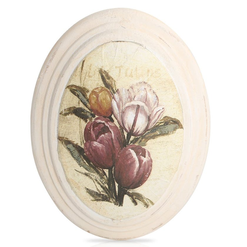 Tulips Framed Art, Cream – 17x22 cms
