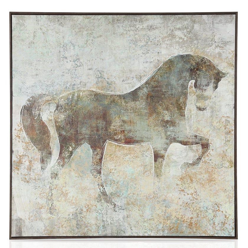 Star White Framed Art, Multicolour – 100x100 cms