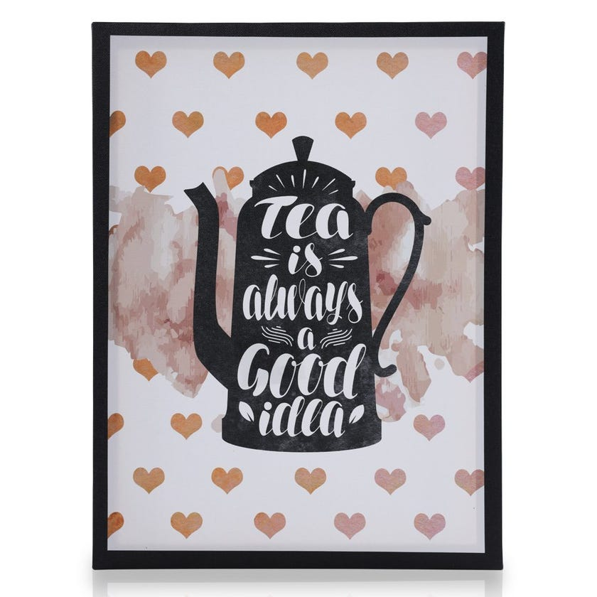 Good Tea Ideas Wall Art, Multicolour – 30x40 cms