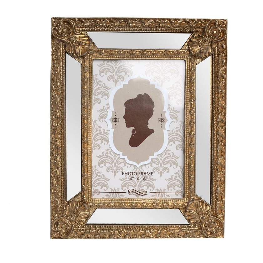 Frosted Almond Photo Frame, Gold - 4X6