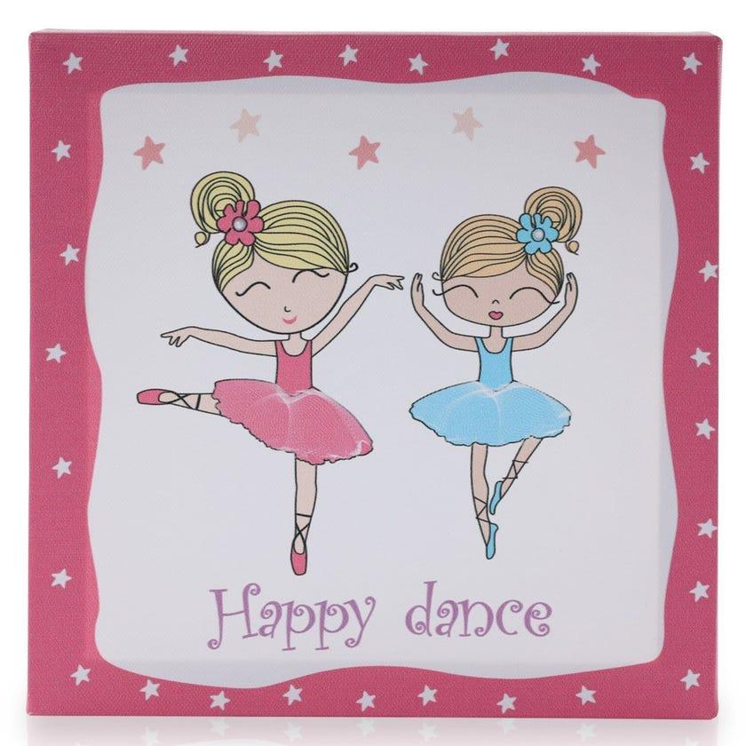 Ballerina Canvas Art, Multicolour – 20x20 cms