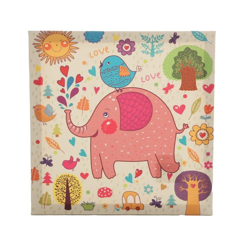 Kids Elephant Canvas Art, Multicolour