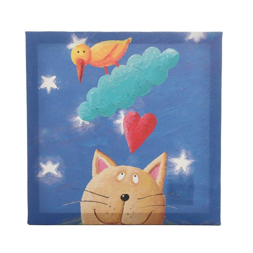 Dreaming Cat Canvas Art, Multicolour
