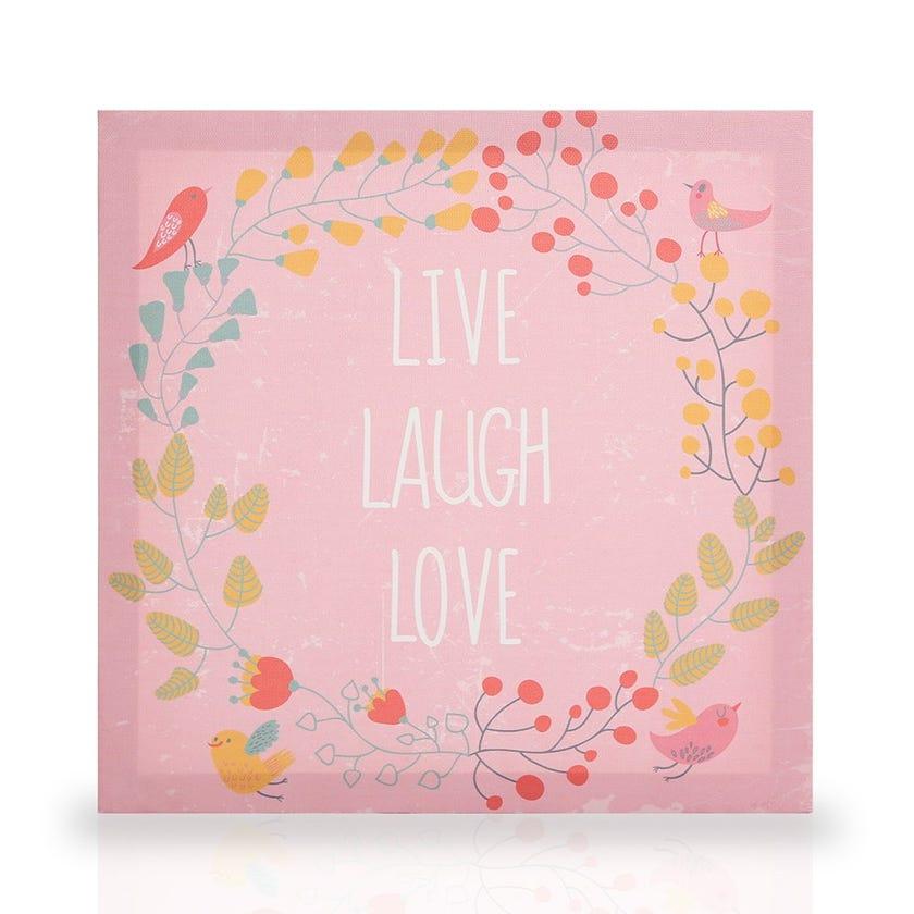 Live Laugh Love Canvas Art, Multicolour