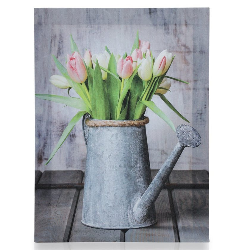 Watering Can Canvas Art, Multicolour – 30x40 cms