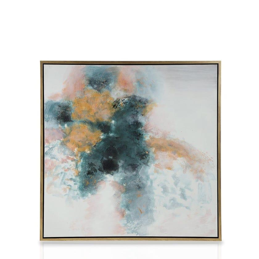 Framed Canvas Art, Abstract Sky (100 cm X 100 cm - Multicolour)
