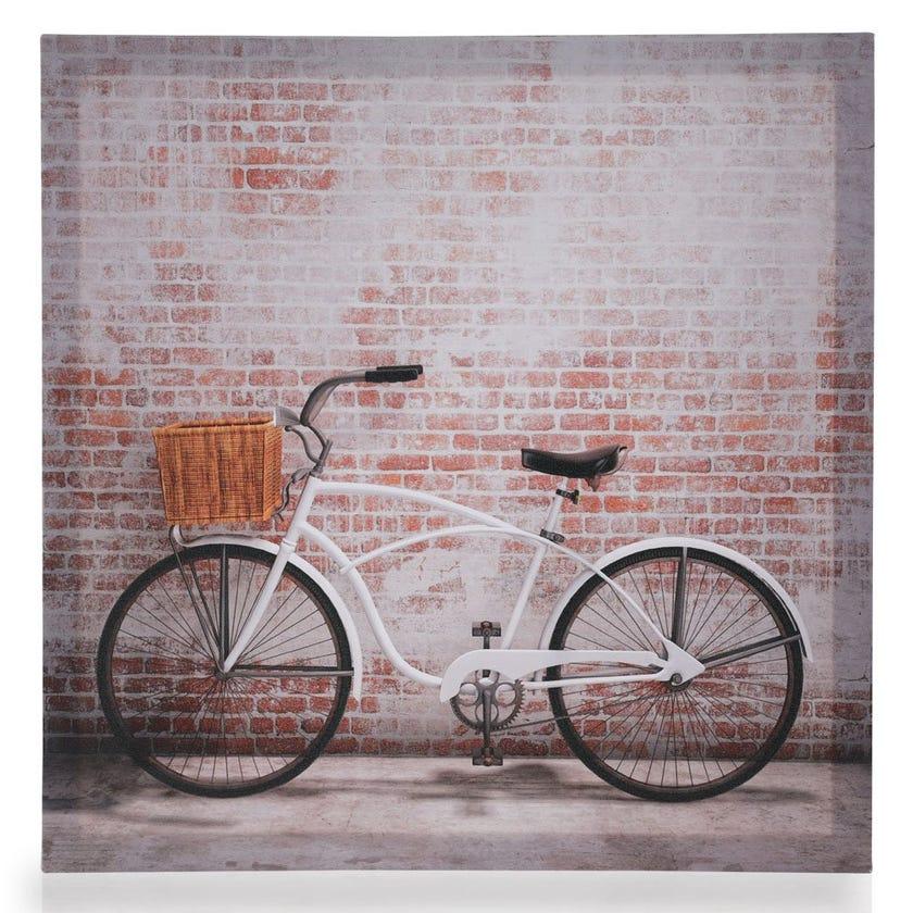 Bicycle Canvas Art, Multicolour – 40x40 cms
