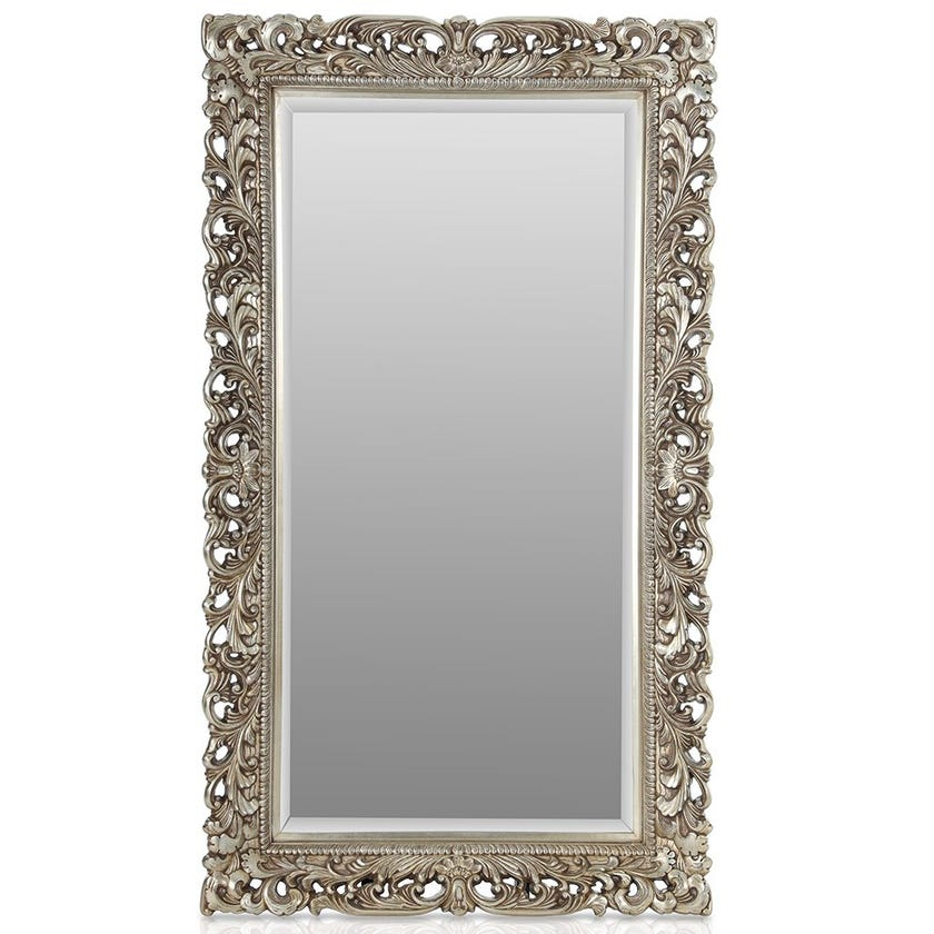 Haroow Leaner Mirror, Antique Silver – 76x152 cms