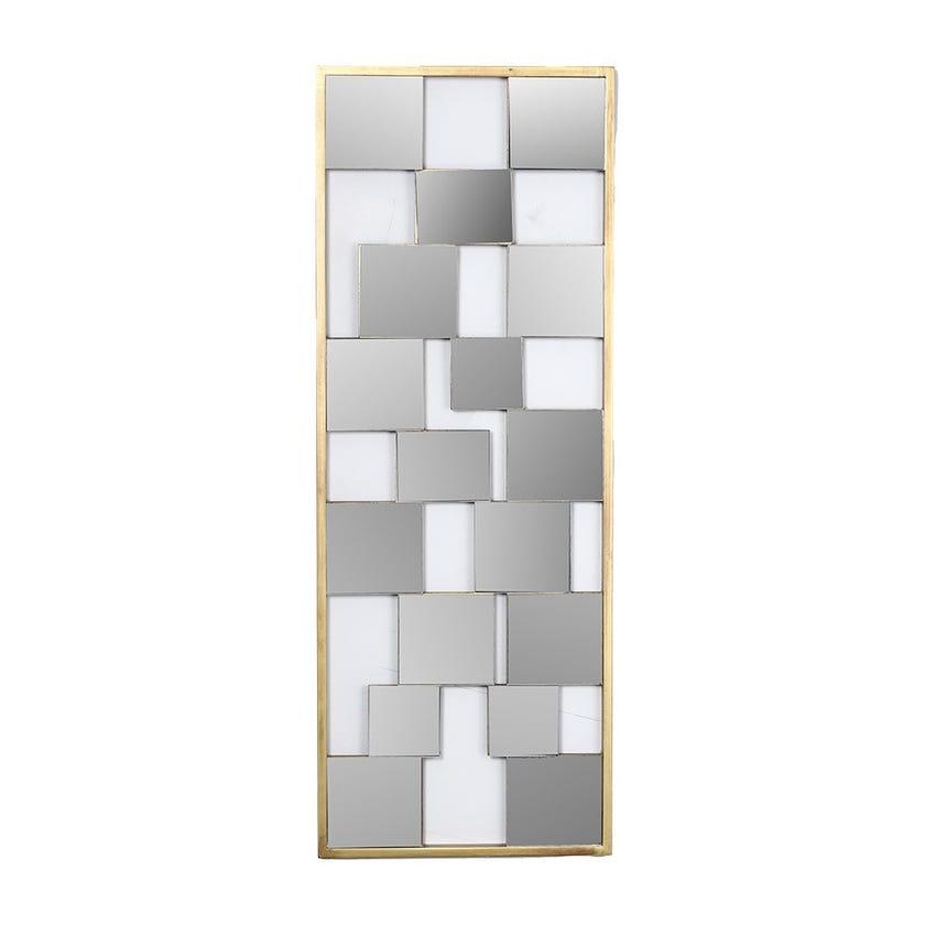 Blocks Wall Mirror, Natural
