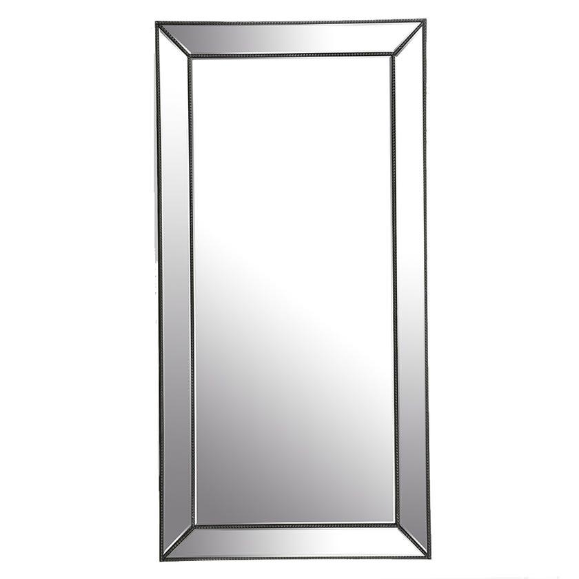 Ermine Wall Mirror, Silver
