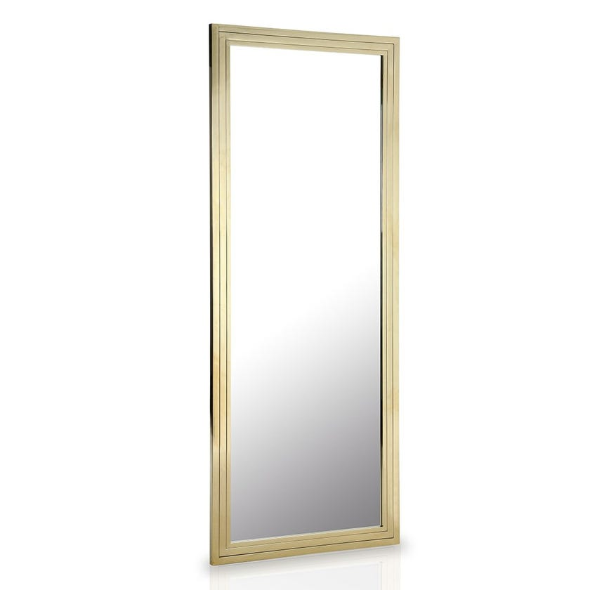 Nugget Stainless Steel Mirror, Clear & Gold – 220x86 cms