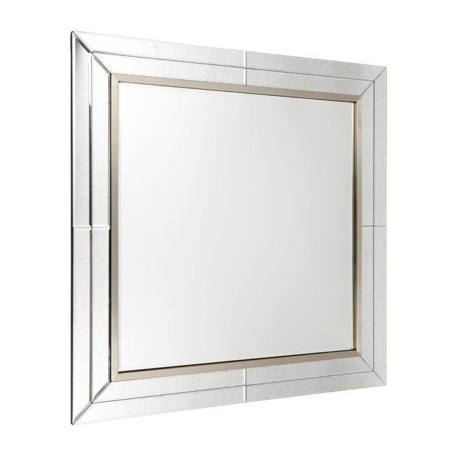 Gordon Square Wall Mirror - Silver