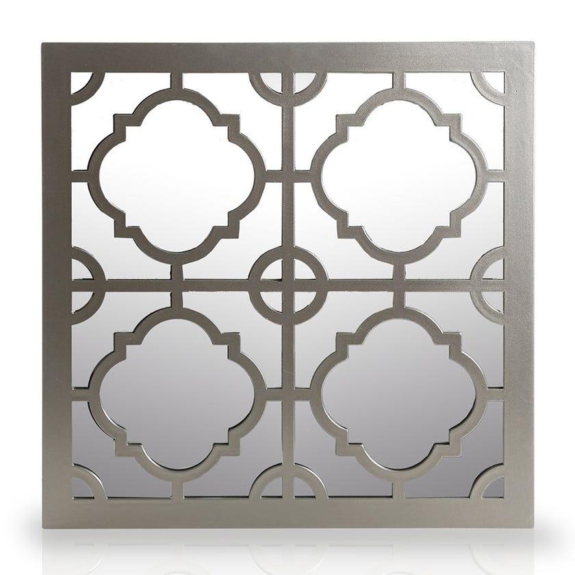 Square Wall Mirror, Natural