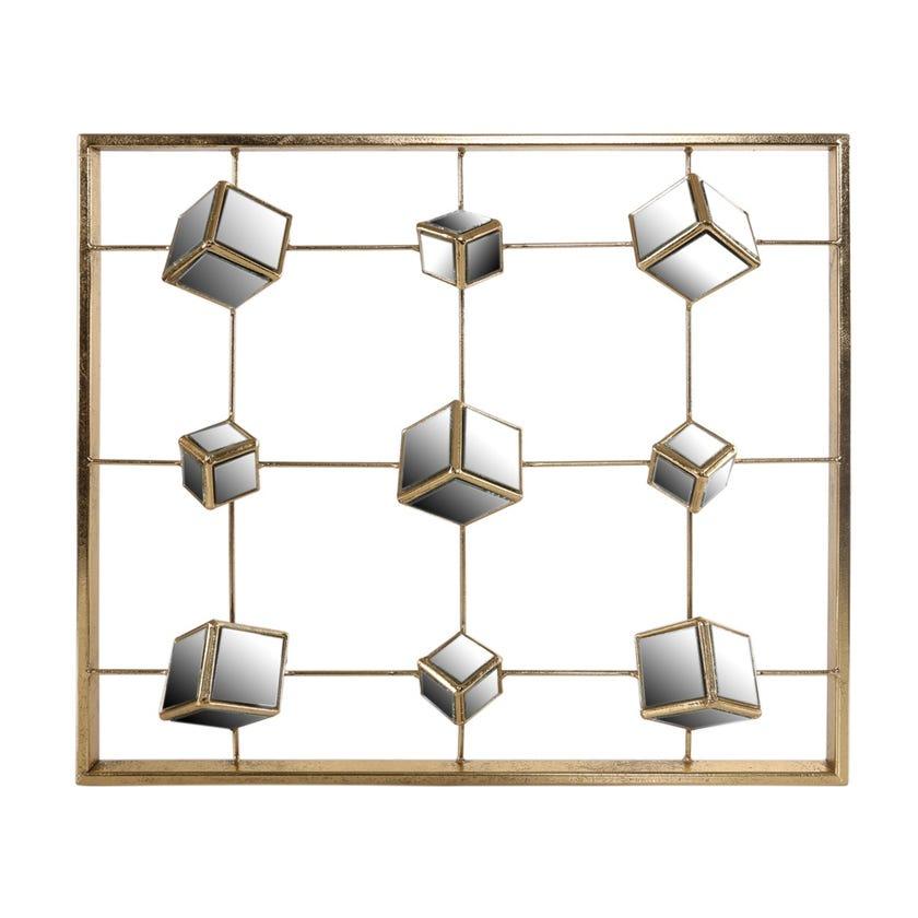 3D Box Wall Art (47 x 53 cms, Gold)