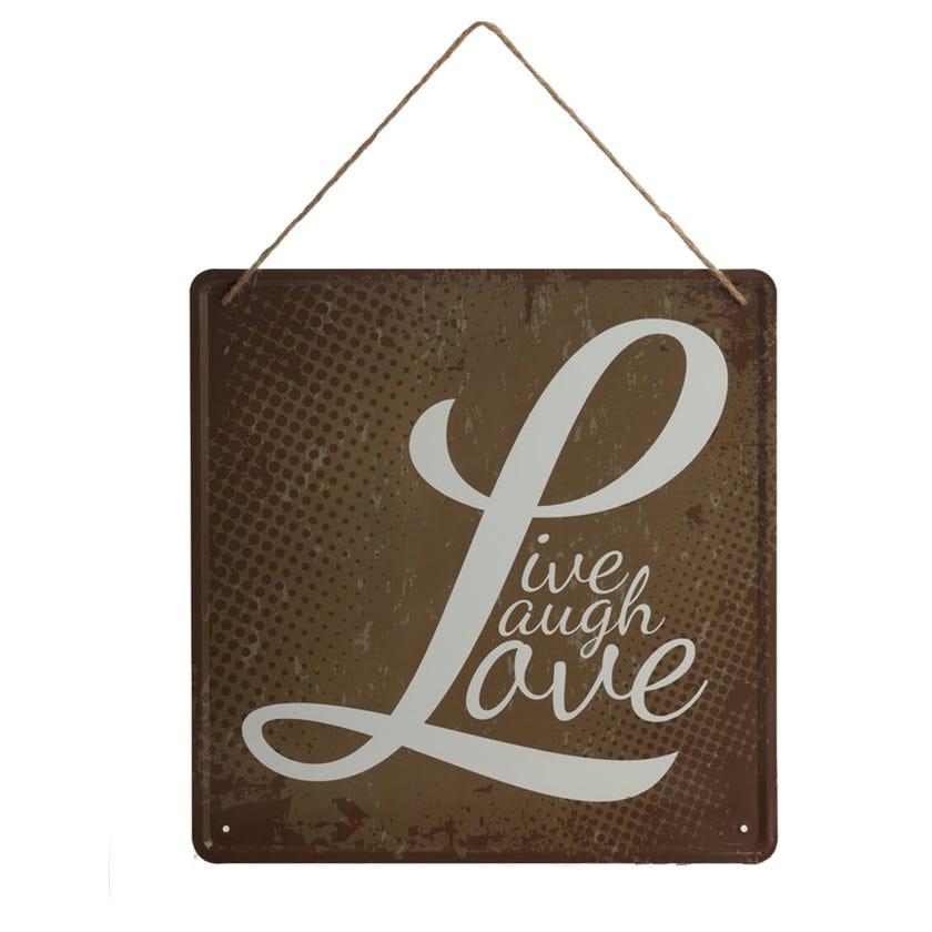 Tin Signage, Live Laugh Love (Multicolour)