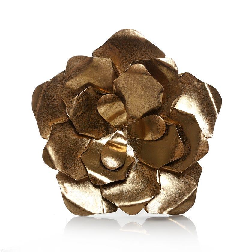 Flower Wall Décor Medium - Gold